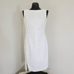 Escada • Wrap Around Zippered Sheath Dress